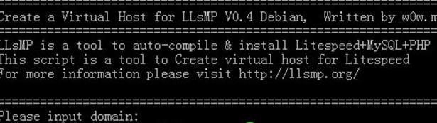 添加站点建立网站—Debian安装LLsMP教程(二)