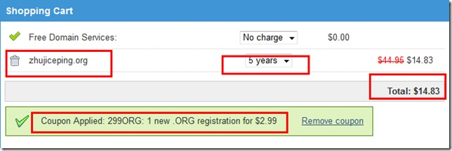 Mydomain-购买1年org国际域名仅需2.99美元