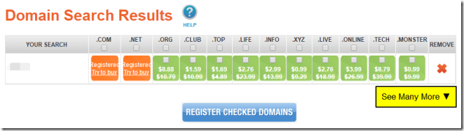 Domain-Search-Results
